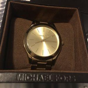 Michael Kors MK3179 Slim Runway Gold-Tone Watch